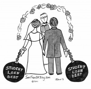 Ball-Chain-student-loan-debt-wedding-300x295